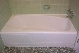 Cast Iron Bathtub Refinished in Kohler Gloss white
