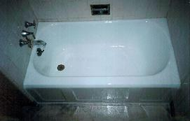 Steel Bathtub Refinished porcelain white
