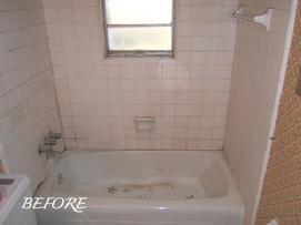 Bathtub And Tile Refinishing Before